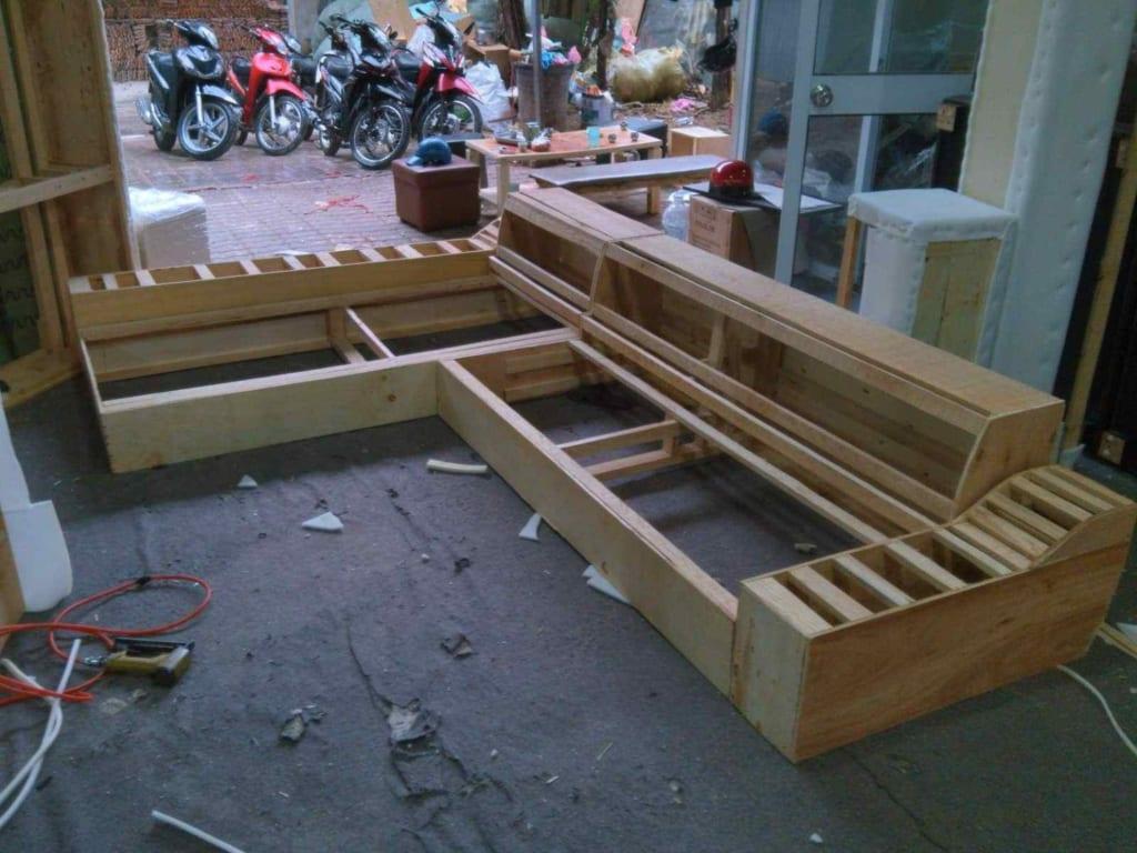 Đóng khung gỗ ghế sofa
