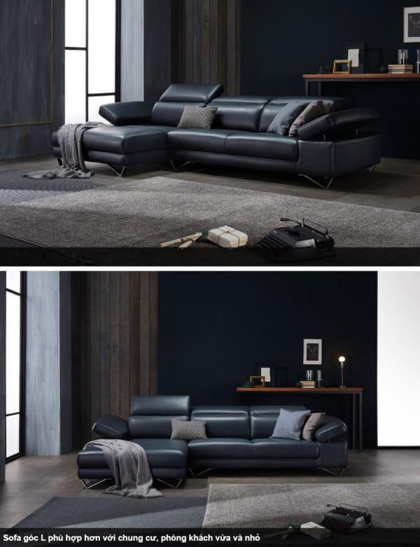 Sofa Da Hiện Đại HNS02