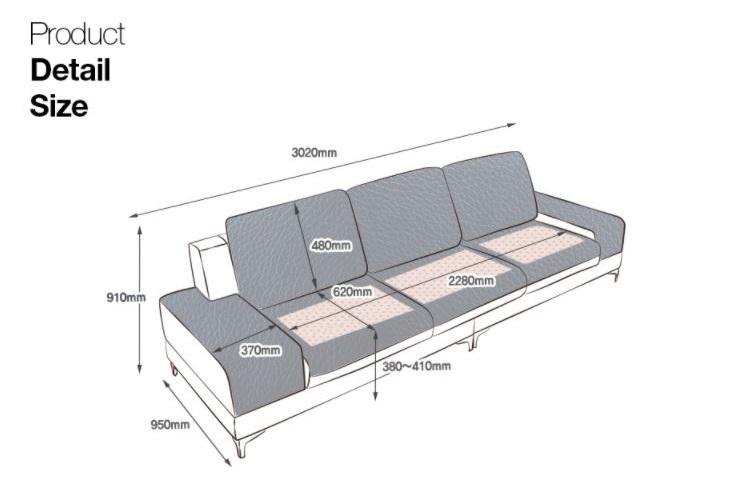 Sofa Da Hiện Đại HNS05