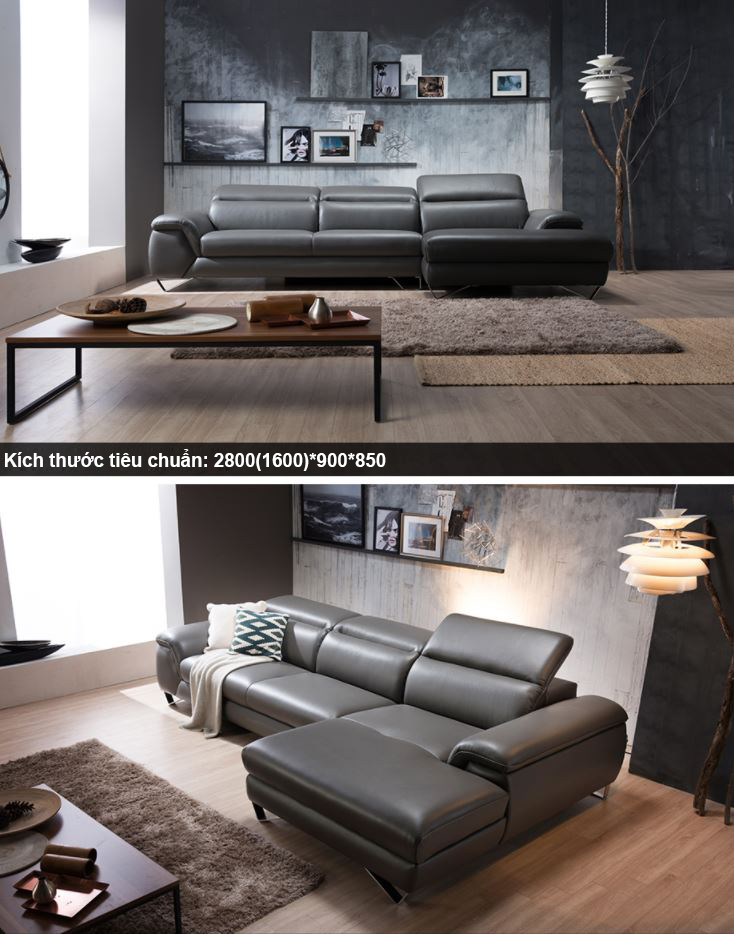 Sofa Da Hiện Đại HNS07