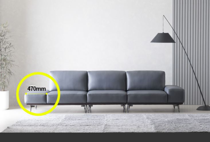 Mẫu sofa da hiện đại HNS12