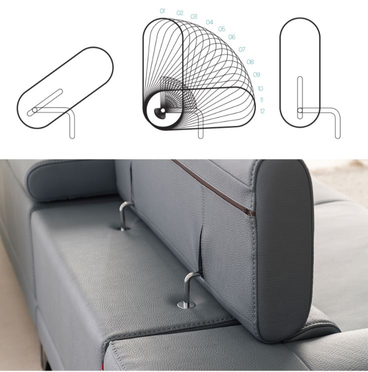 Phụ kiện gật gù mẫu ghế sofa da hiện đại góc L HNS16