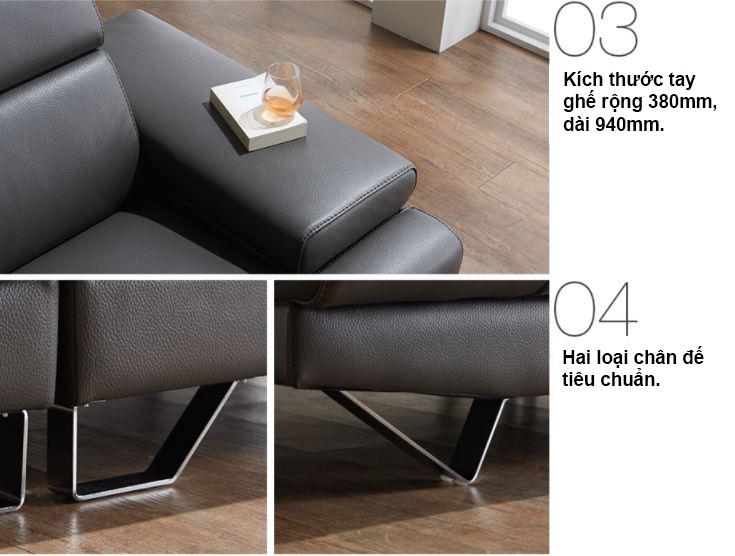 Mẫu ghế sofa da hiện đại HNS14