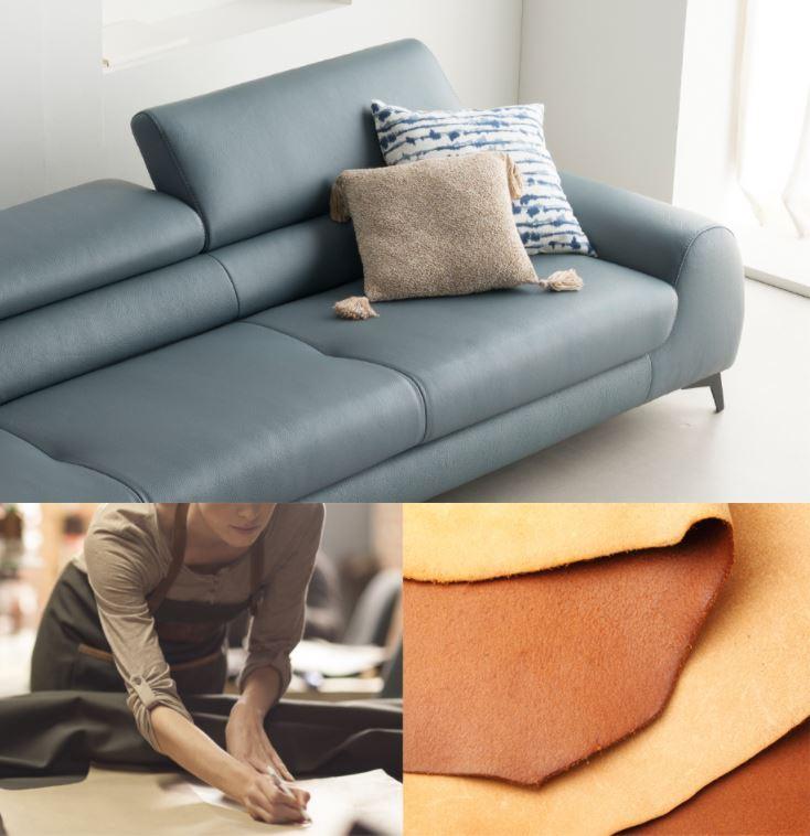 Mẫu ghế sofa da hiện đại góc L HNS16