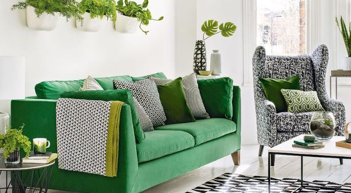 Sofa xanh lá cây
