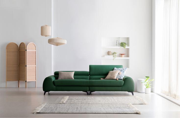 Sofa vải nỉ thích hợp với những không gian trẻ trung và hiện đại