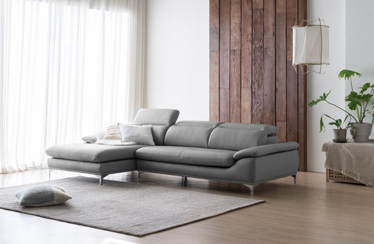 Sofa vải nỉ cao cấp hình chữ L cho không gian sự sang trọng và bề thế