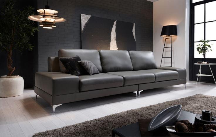 Ghế sofa xám HNS05 kiểu dáng sang trọng