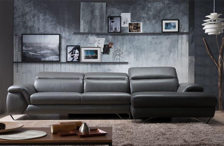 Ghế sofa da hiện đại HNS07 ấn tượng chữ L