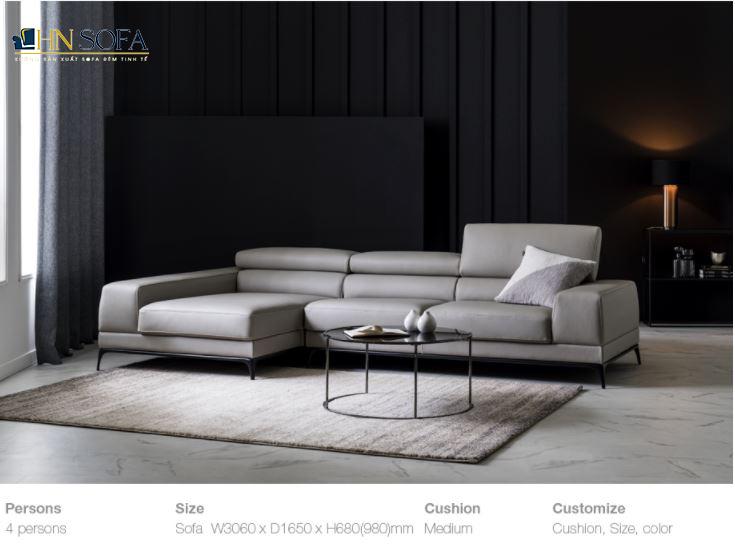Mẫu sofa góc L hiện đại HNS21