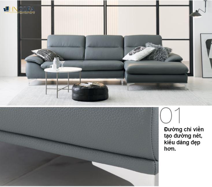 Mẫu ghế sofa góc L HNS27 sang trọng