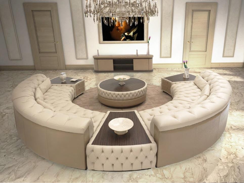 Sofa góc tròn có thiết kế hình vòng cung