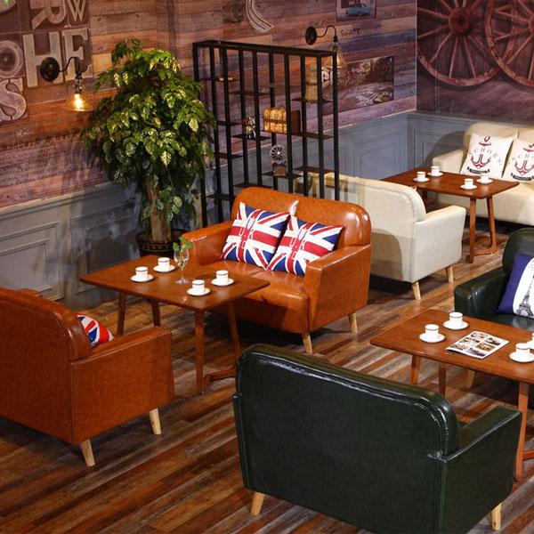 Ghế sofa da cho quán cafe