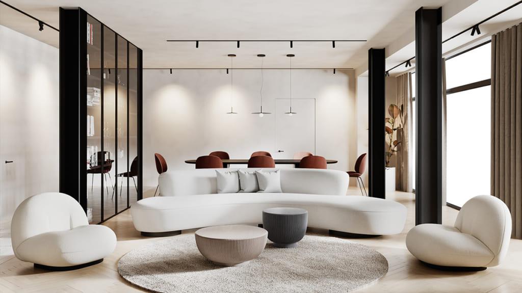 Thiết kế này rất hợp cho các căn hộ chung cư có diện tích không quá lớn