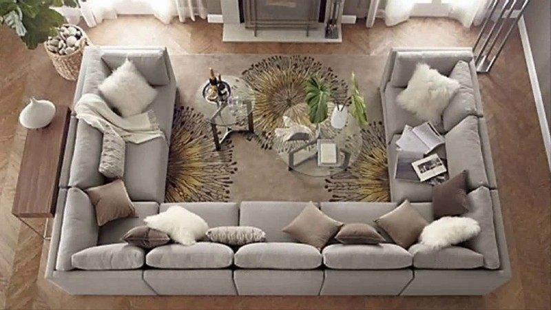 Sofa chữ u cho không gian rộng lớn