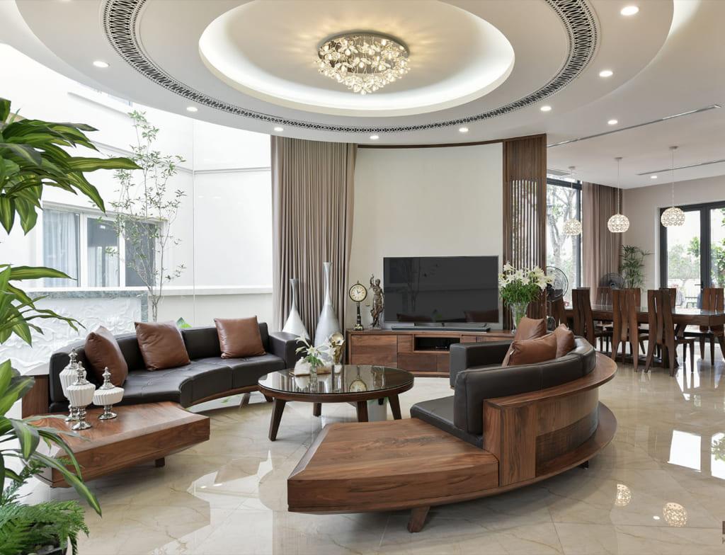 Chất liệu bọc ghế sofa cong và sofa chữ U