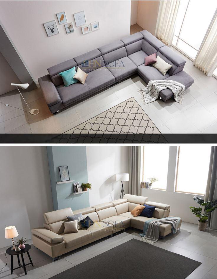 Mẫu sofa góc đẹp cho phòng khách chung cư hiện đại