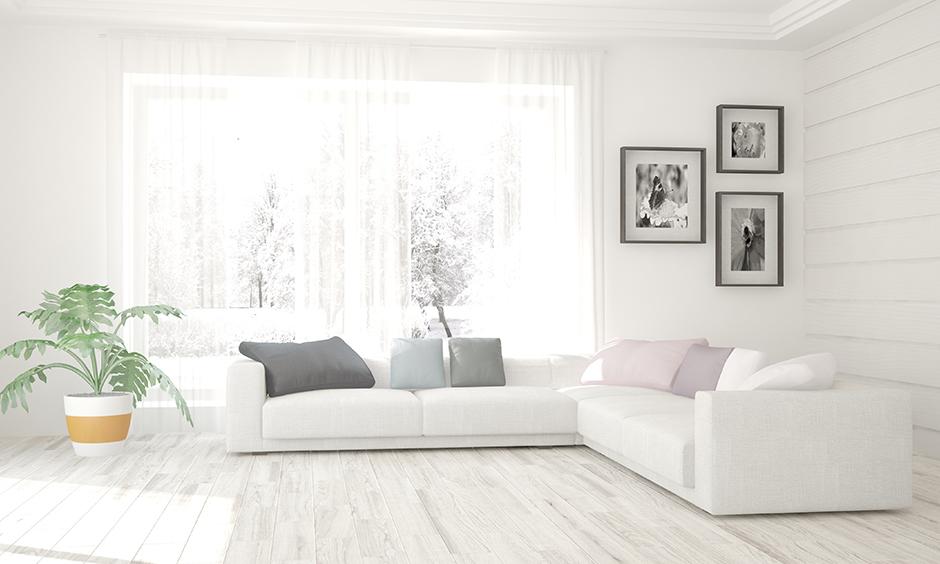 Những ý tưởng độc đáo khi thiết kế phòng khách với sofa trắng