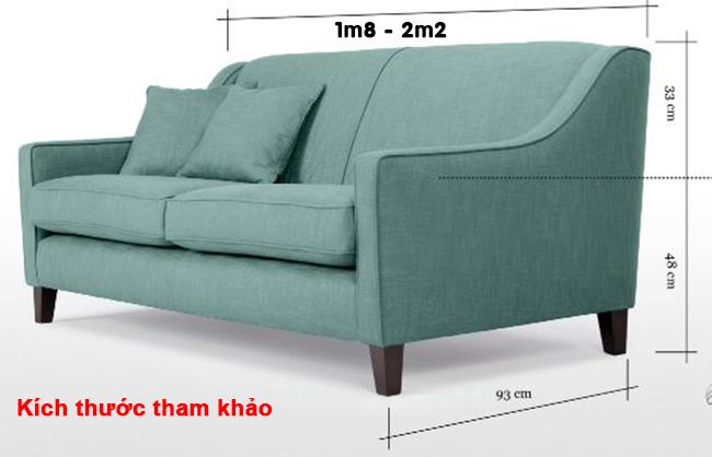 Một vài lưu ý khi chọn mua sofa 2m2 cho phòng khách chung cư