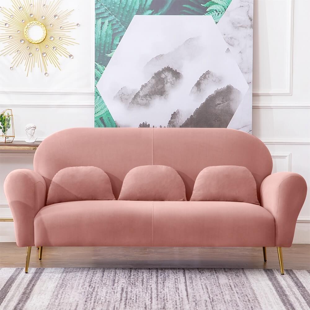 Sofa nhung văng thích hợp cho phòng khách chung cư nhỏ