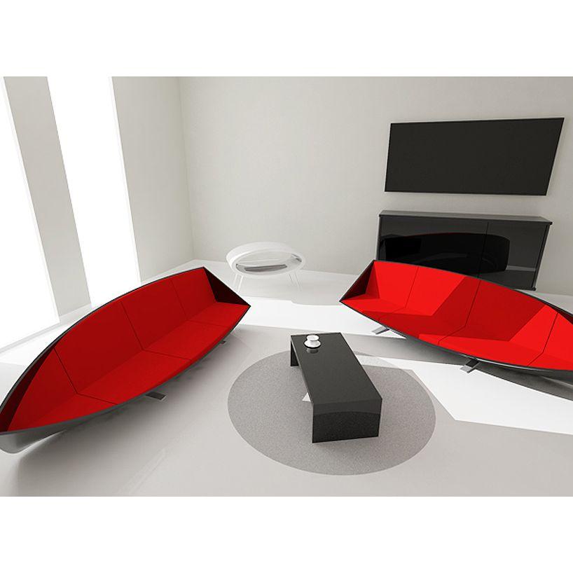 Sofa thuyền mang vẻ đẹp ấn tượng cho không gian phòng khách
