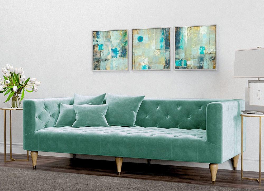 Sofa xanh ngọc có phải là sự lựa chọn đúng đắn cho mùa hè không?
