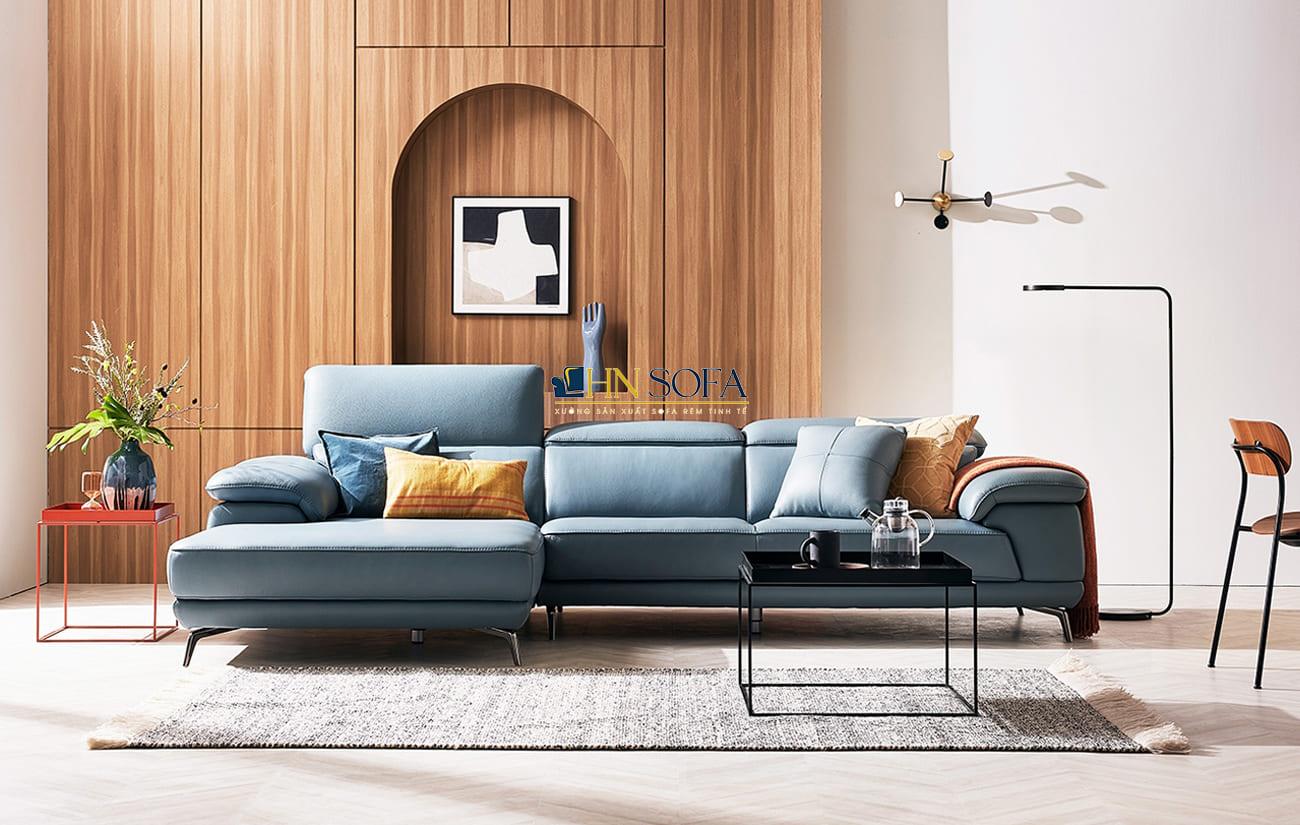 Sofa góc L da Hàn HNS32