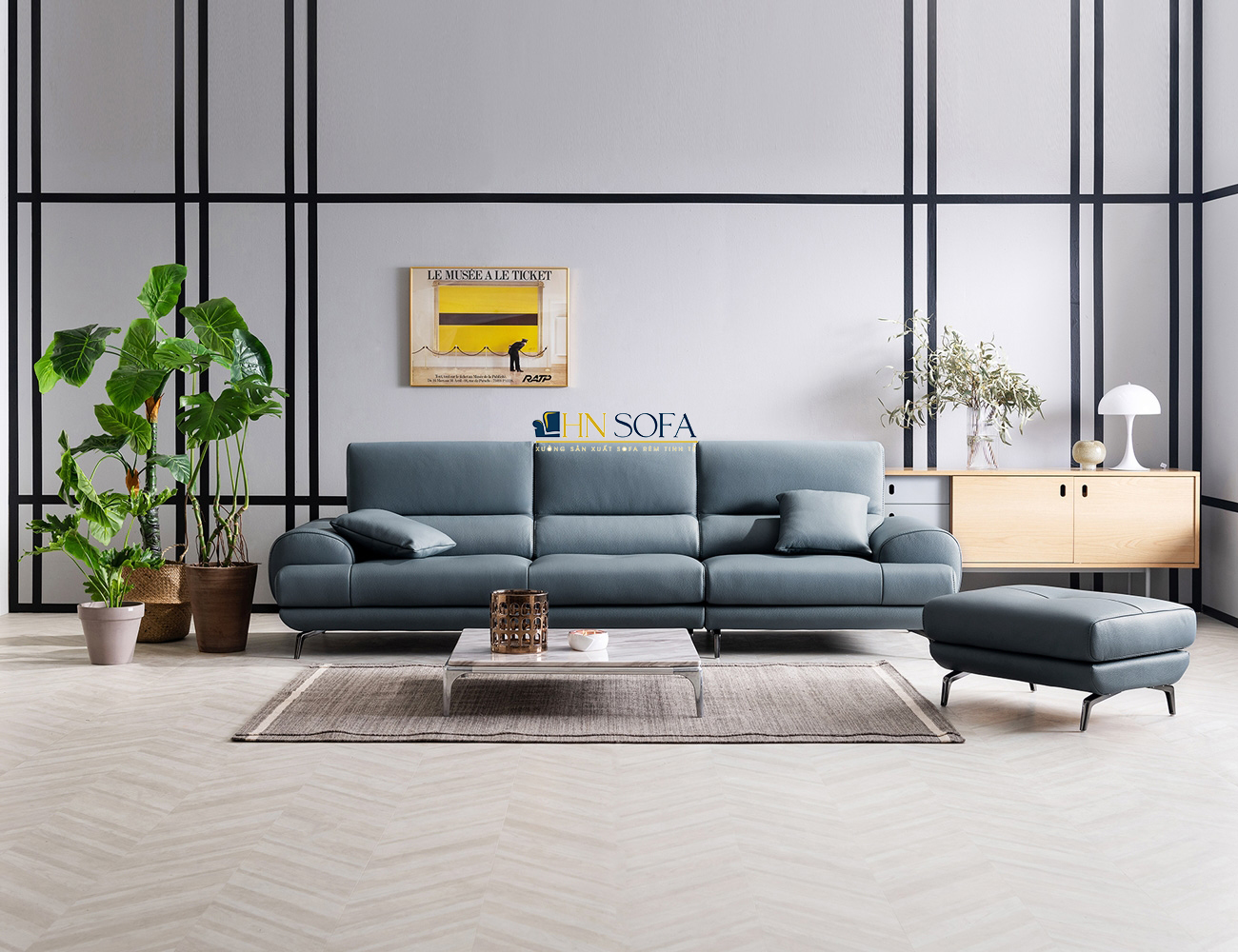 Mẫu sofa băng hiện đại HNS33