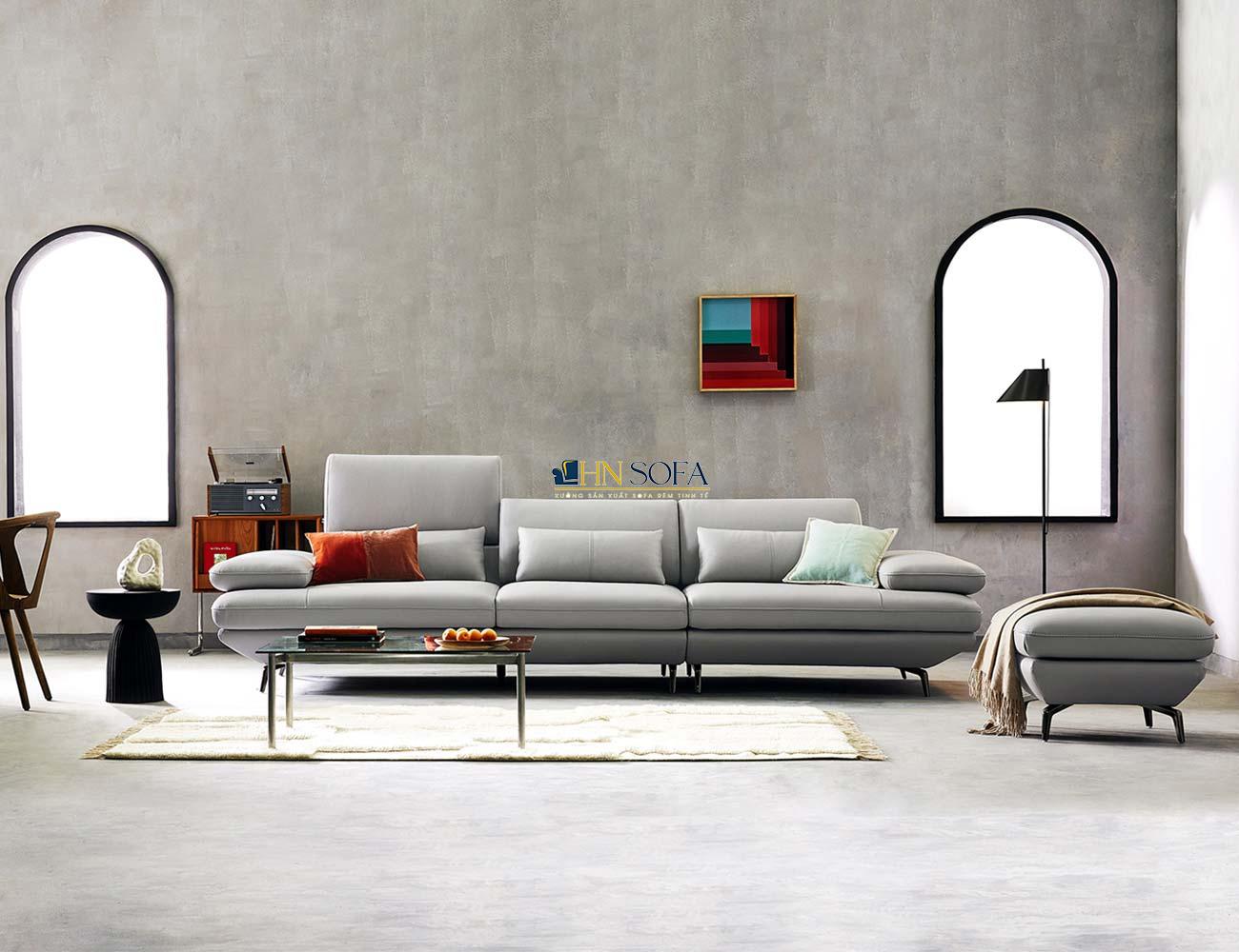 Sofa văng hiện đại da Hàn HNS35
