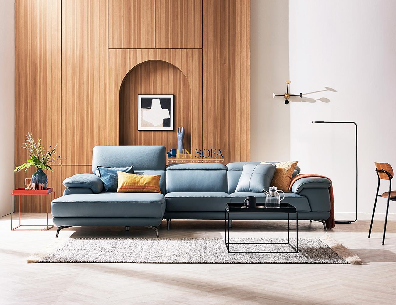 Sofa xanh dương hiện đại HNS41
