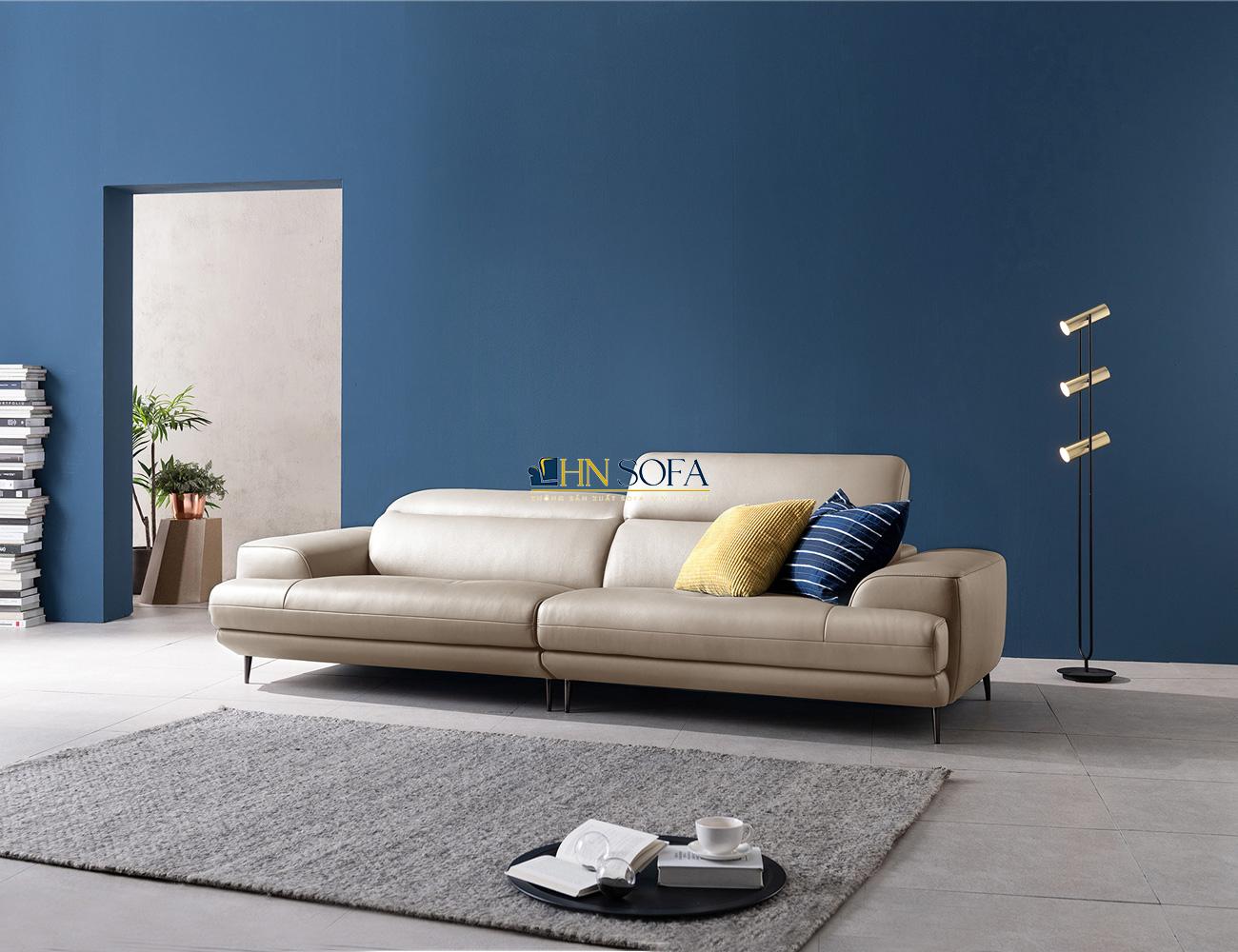 Mẫu ghế sofa văng 2 chỗ ngồi da Microfiber HNS42