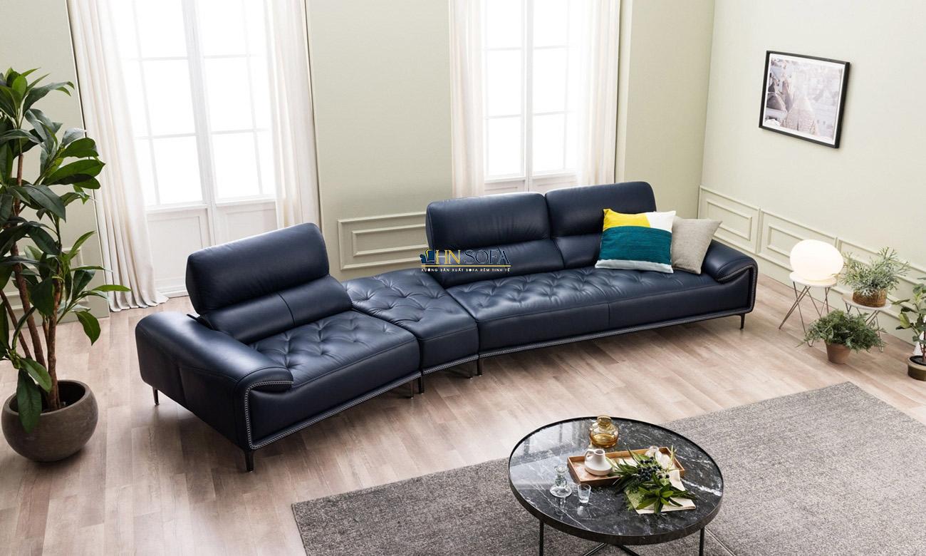 Sofa tân cổ điển da Anh HNS47