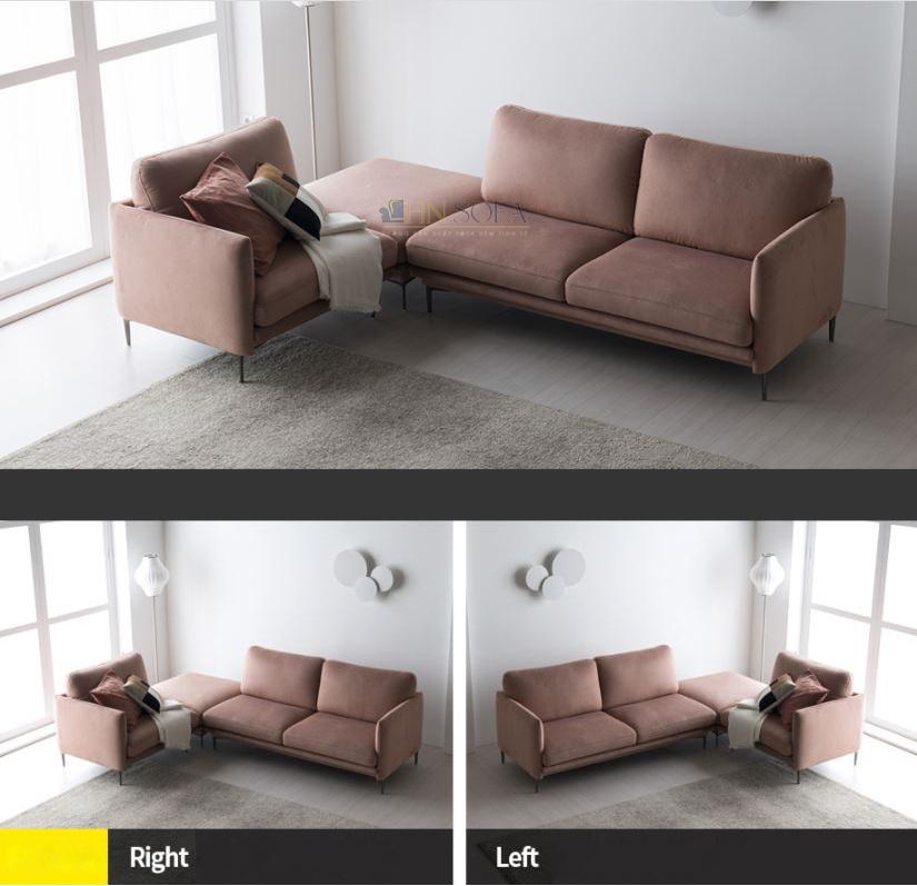 Sofa văng nỉ Hàn hiện đại HNSN08