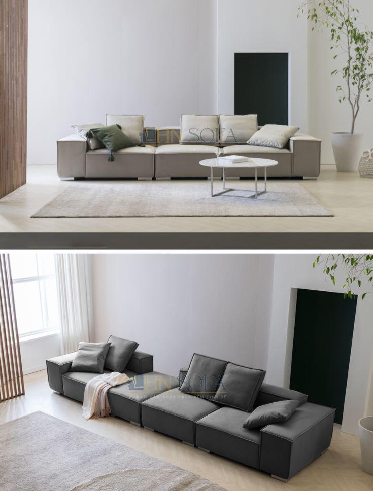 Sofa văng nỉ hiện đại HNSN03