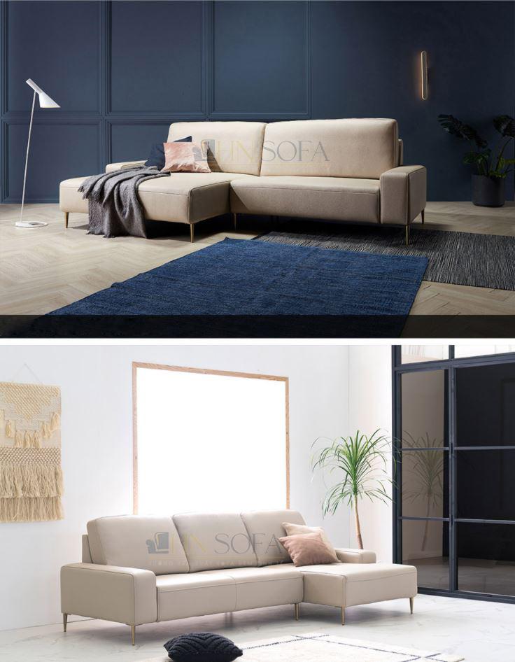 Sofa góc nỉ Hàn hiện đại HNSN02