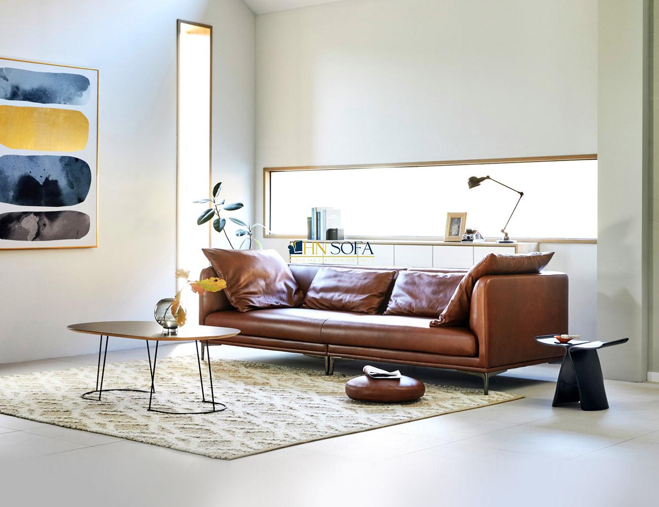 Ghế sofa văng da Hàn 2 chỗ HNS49