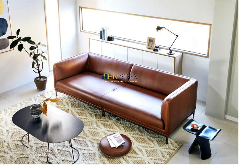 Sofa da văng Hàn 2 chỗ HNS49