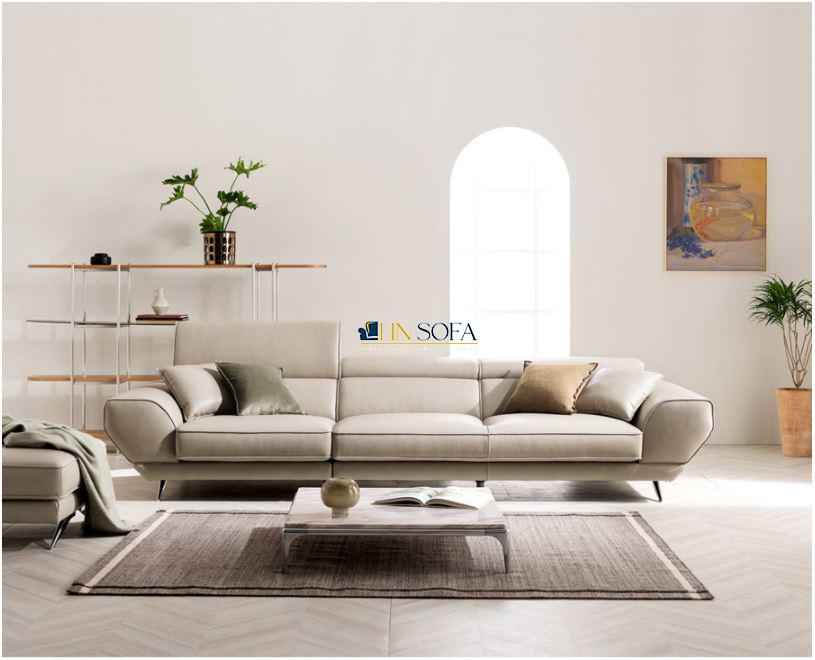 Mẫu sofa hiện đại trắng kem HNS36