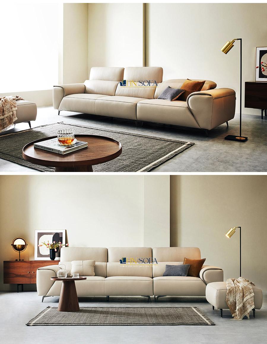 Sofa băng hiện đại trắng kem HNS37