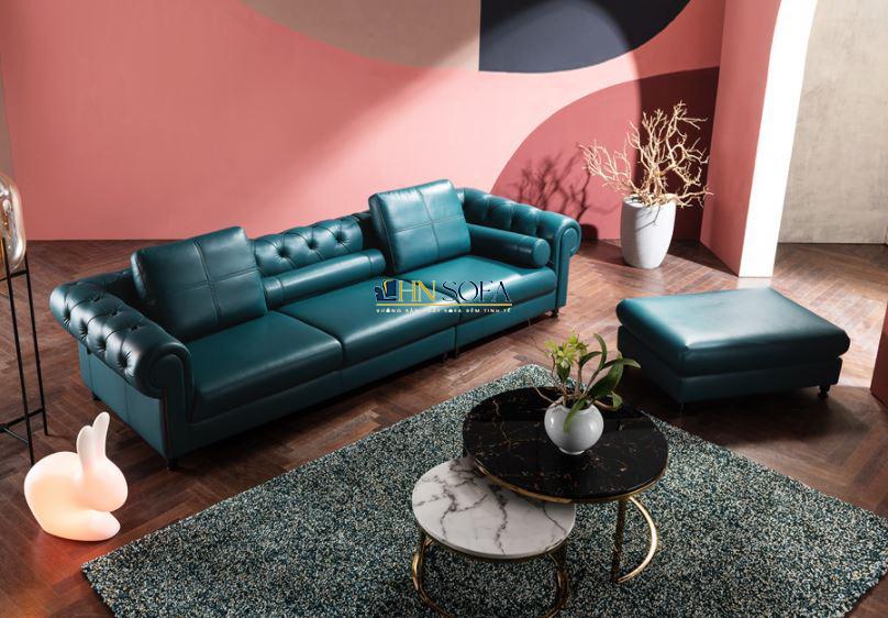 Sofa tân cổ điển da Hàn HNS46
