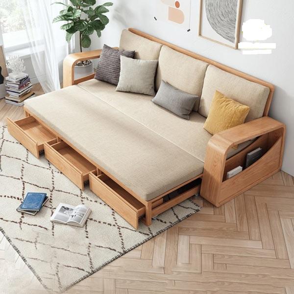 Mẫu ghế sofa giường có hộc đồ