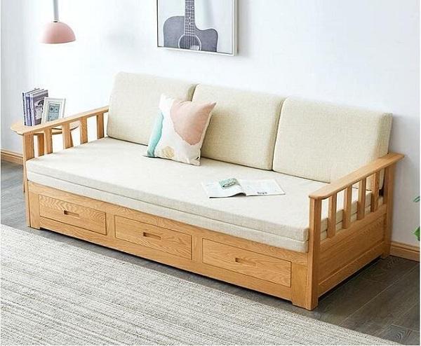 Sofa khung gỗ có ngăn kéo đa năng