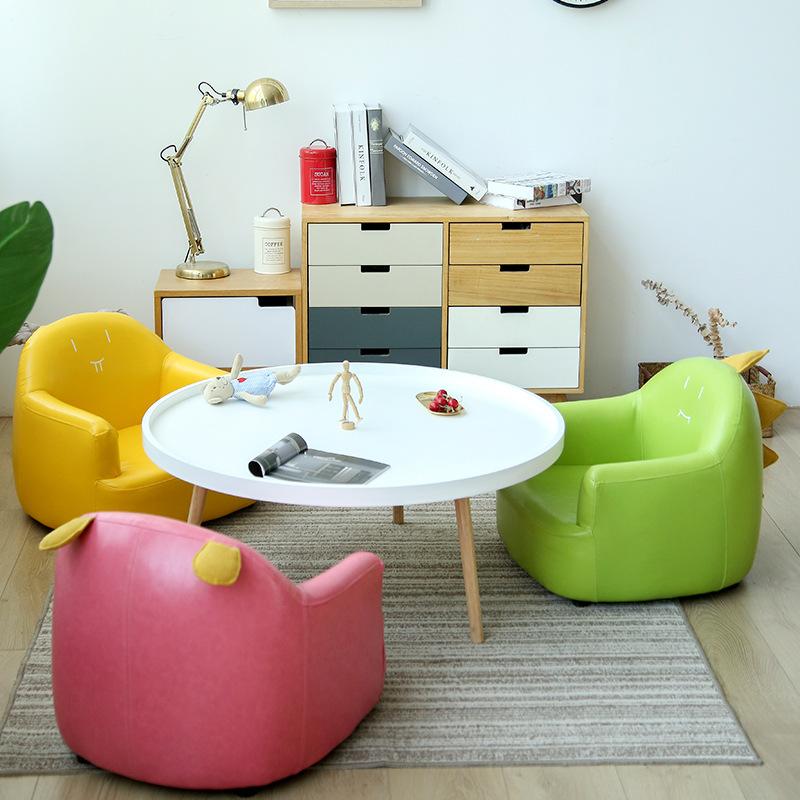 Mẫu 6 - Sofa một chỗ ngồi kiểu dáng vuông vắn, đáng yêu