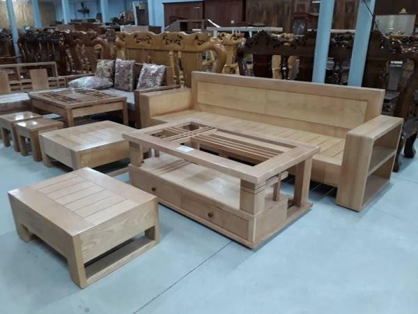 Mẫu 3: Sofa gỗ hộp đẹp từ gỗ thông với thiết kế đơn giản nhưng sang trọng