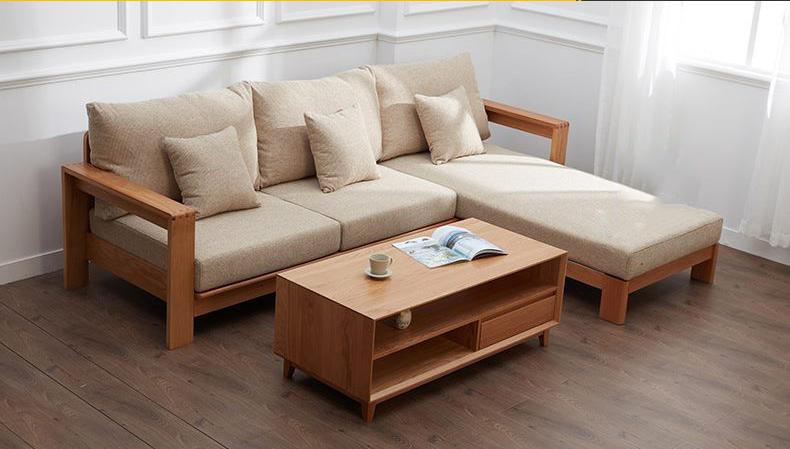 Mẫu 7: Sofa dáng L đẹp kết hợp nệm êm sang trọng, thanh lịch