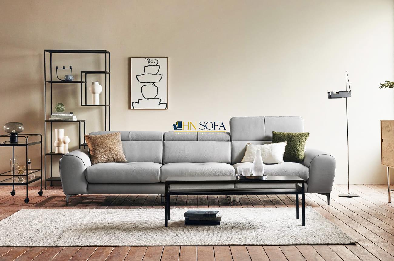 Mẫu sofa da giá rẻ 3 chỗ da Hàn Quốc HNS72