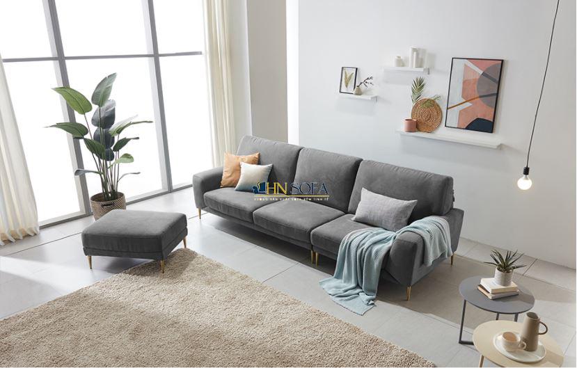 Sofa văng bọc nỉ Hàn Quốc kèm đôn HNSN14