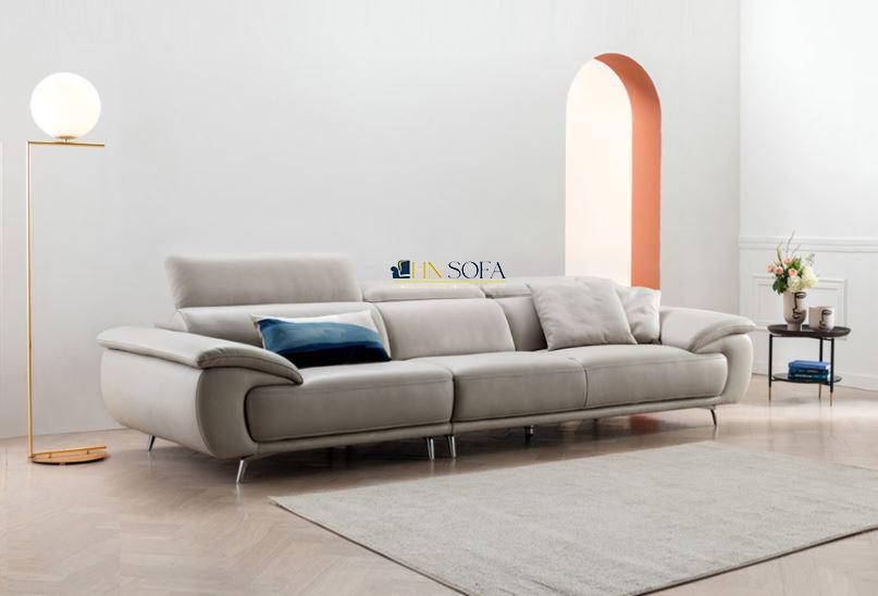 Sofa văng giả da Hàn Quốc trắng be HNS62