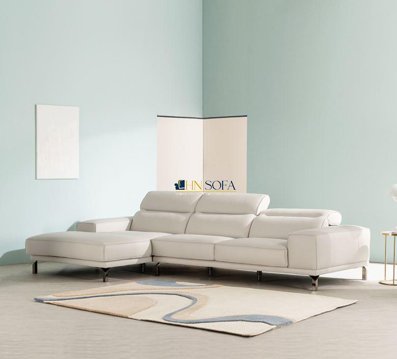 Mẫu sofa góc L da Hàn cao cấp HNS61
