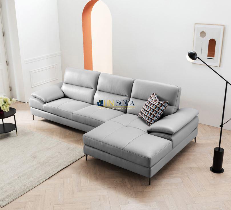 Sofa góc L hiện đại bọc da HNS58